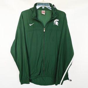 Nike Michigan State Zip Up Vented Windbreaker hood